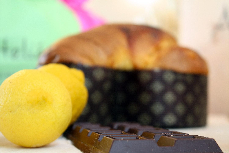 Colomba Lilly con Limone Candito, Liquirizia e Cioccolato Fondente